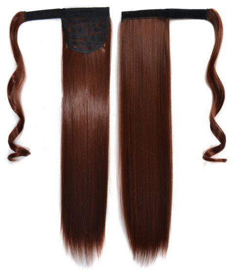 Long Straight Clip in Hair Ponytail Hairpiece with Magic Wrap Around - 037
