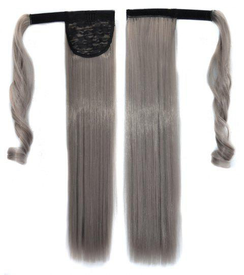 Long Straight Clip in Hair Ponytail Hairpiece with Magic Wrap Around - 041