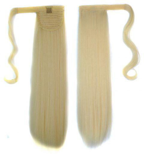 Long Straight Clip in Hair Ponytail Hairpiece with Magic Wrap Around - 024