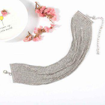 Women's Simple and Simple Inlaid with Multi-layer Personality Element Neck Chain - SILVER