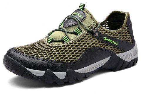 Chaussures de sport en plein air Homer New Men's Mesh - Vert Trèfle 45