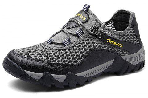 Homer New Men's Mesh Outdoor Sports Shoes - CLOUDY GRAY 42