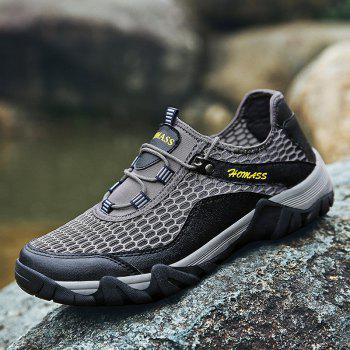 Homer New Men's Mesh Outdoor Sports Shoes - CLOUDY GRAY 44