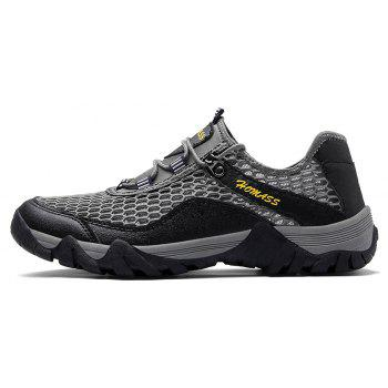 Homer New Men's Mesh Outdoor Sports Shoes - CLOUDY GRAY 38