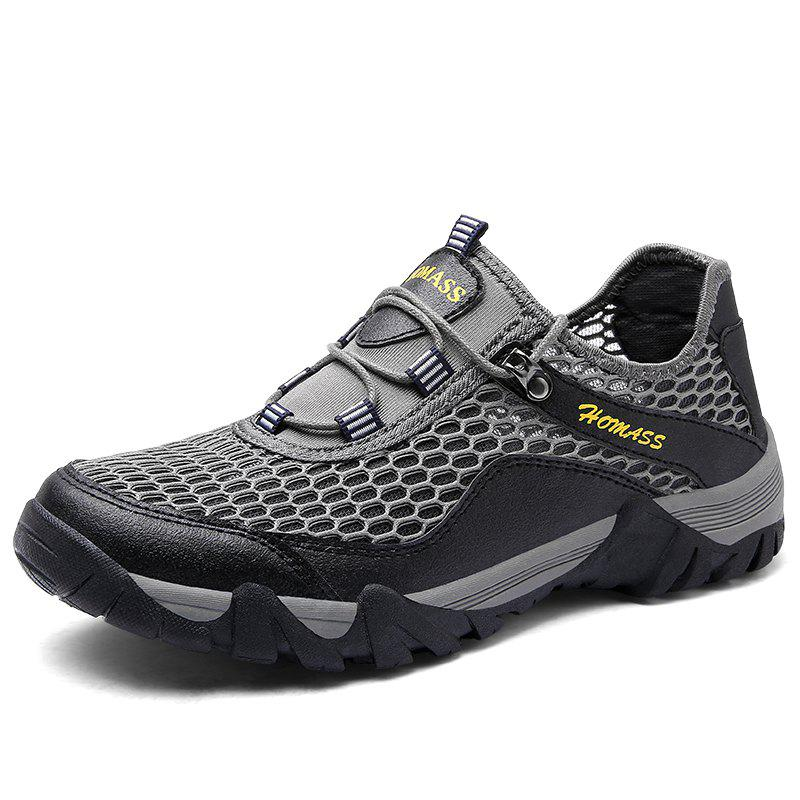 Homer New Men's Mesh Outdoor Sports Shoes - CLOUDY GRAY 39