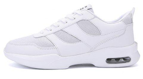 New Men Spring Breathable Cool Lightweight Casual Sports Shoes - WHITE 43