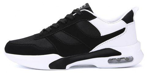 New Men Spring Breathable Cool Lightweight Casual Sports Shoes - BLACK 44