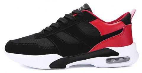 New Men Spring Breathable Cool Lightweight Casual Sports Shoes - LAVA RED 44