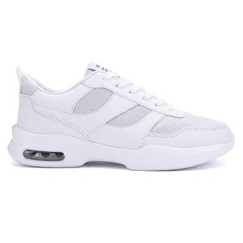 New Men Spring Breathable Cool Lightweight Casual Sports Shoes - WHITE 40