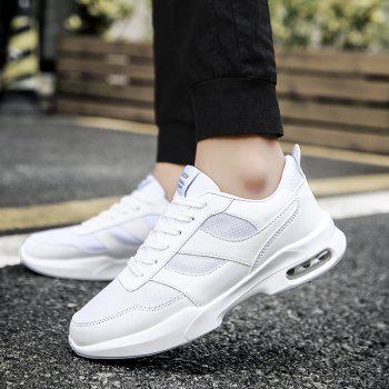 New Men Spring Breathable Cool Lightweight Casual Sports Shoes - WHITE 44