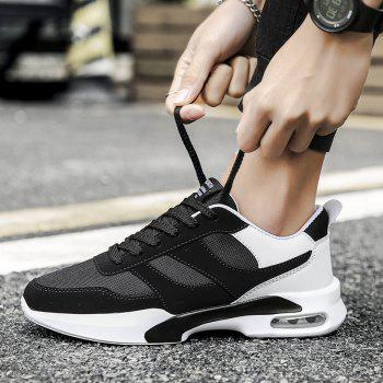 New Men Spring Breathable Cool Lightweight Casual Sports Shoes - BLACK 43