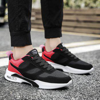 New Men Spring Breathable Cool Lightweight Casual Sports Shoes - LAVA RED 39