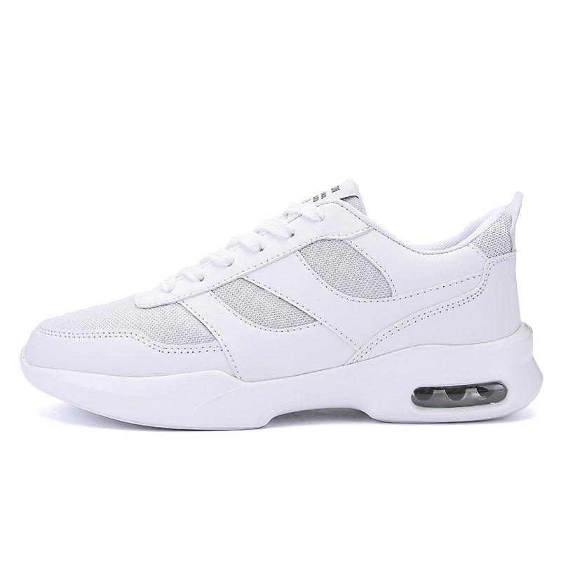 New Men Spring Breathable Cool Lightweight Casual Sports Shoes - WHITE 42
