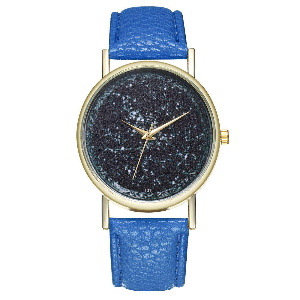 Zhou Lianfa Brand Constellation Leather Watch - ROYAL BLUE