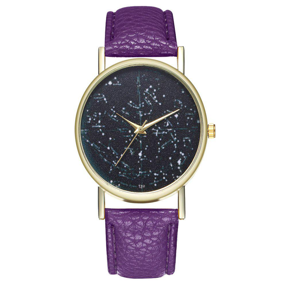 Zhou Lianfa Brand Constellation Northern Hemisphere Leather Watch - VIOLET