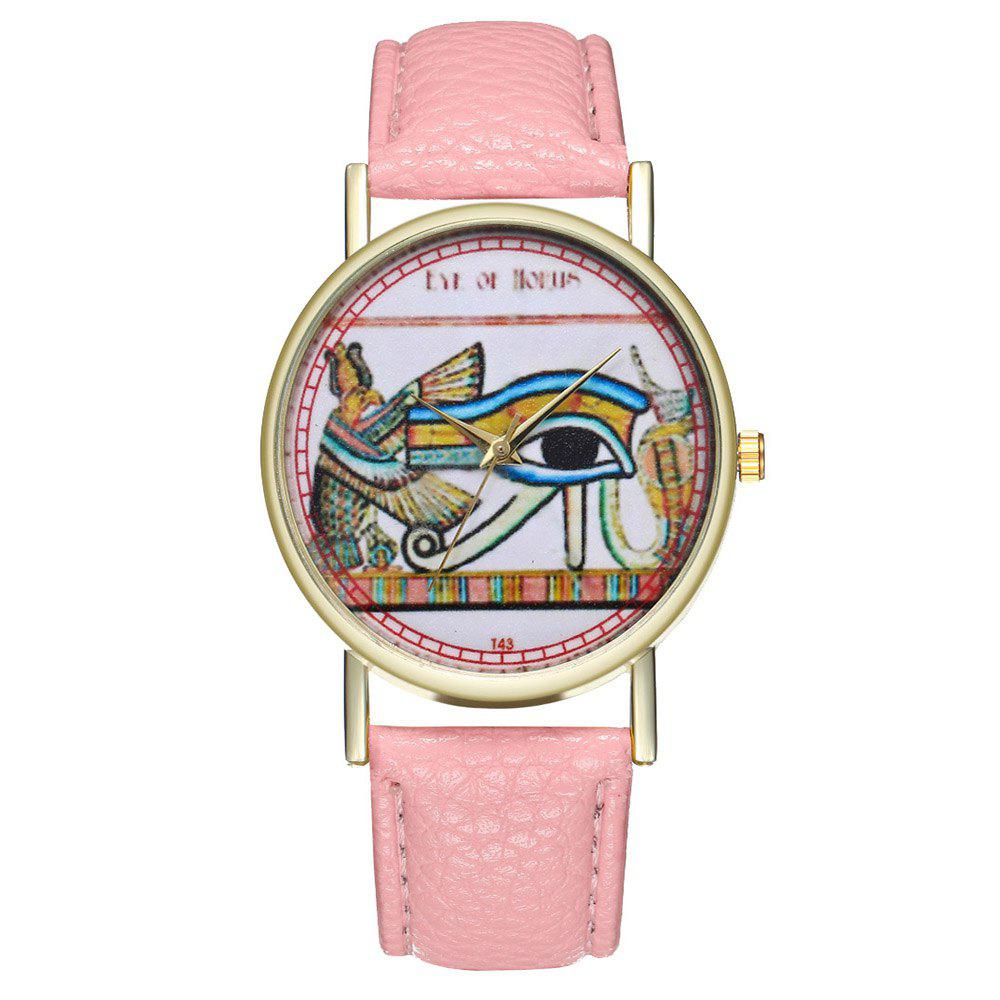 Zhou Lianfa Egyptian Eye Vintage Style Men Watch - PINK