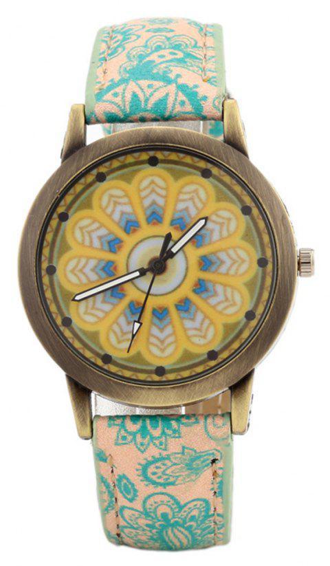 Porcelain Printed Vintage Quartz Student Fashion Watch - AVOCADO GREEN