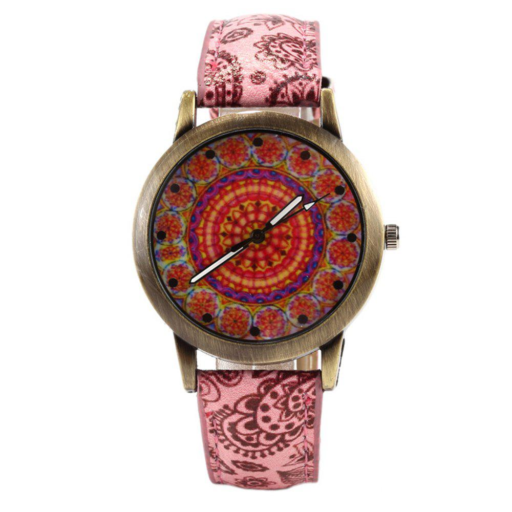 Porcelain Printed Vintage Quartz Student Fashion Watch - GRAPEFRUIT