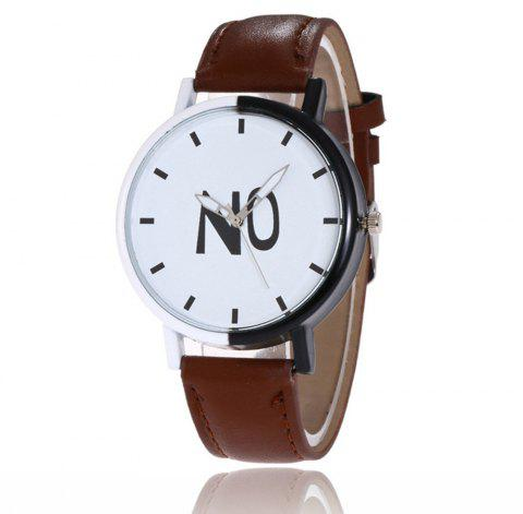 Fashion New Girl Boys Students Leather Watch - PUCE