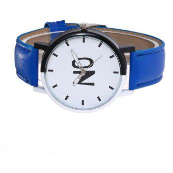 Fashion New Girl Boys Students Leather Watch - BLUE LOTUS