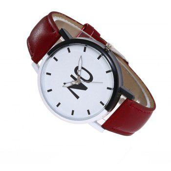 Fashion New Girl Boys Students Leather Watch - RED WINE