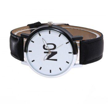 Fashion New Girl Boys Students Leather Watch - NIGHT