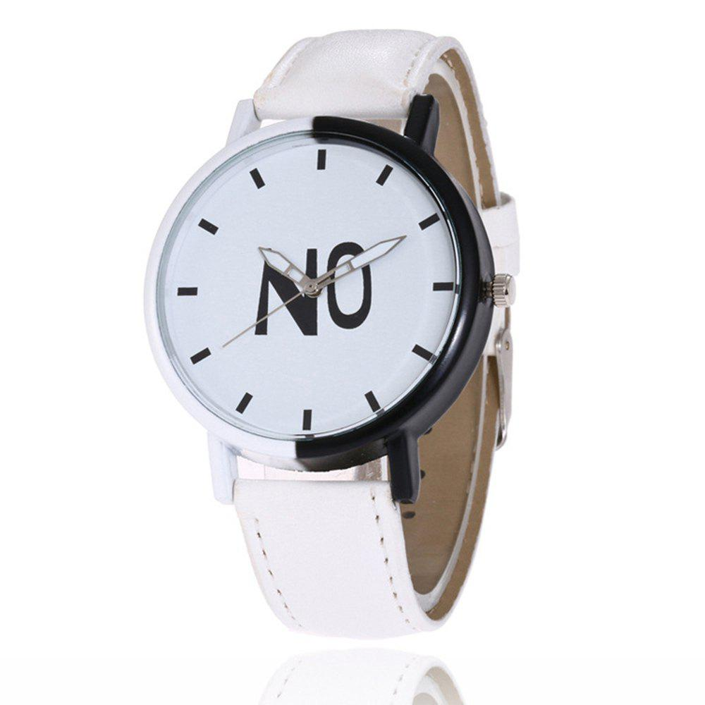 Fashion New Girl Boys Students Leather Watch - WHITE