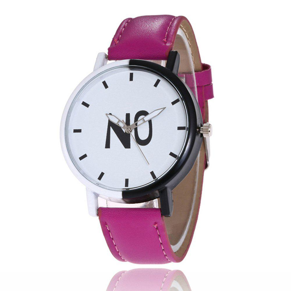 Fashion New Girl Boys Students Leather Watch - PLUM PIE