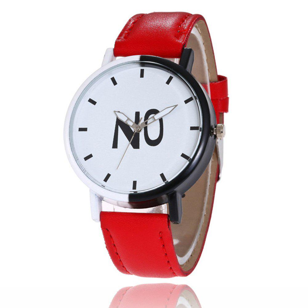 Fashion New Girl Boys Students Leather Watch - GRAPEFRUIT