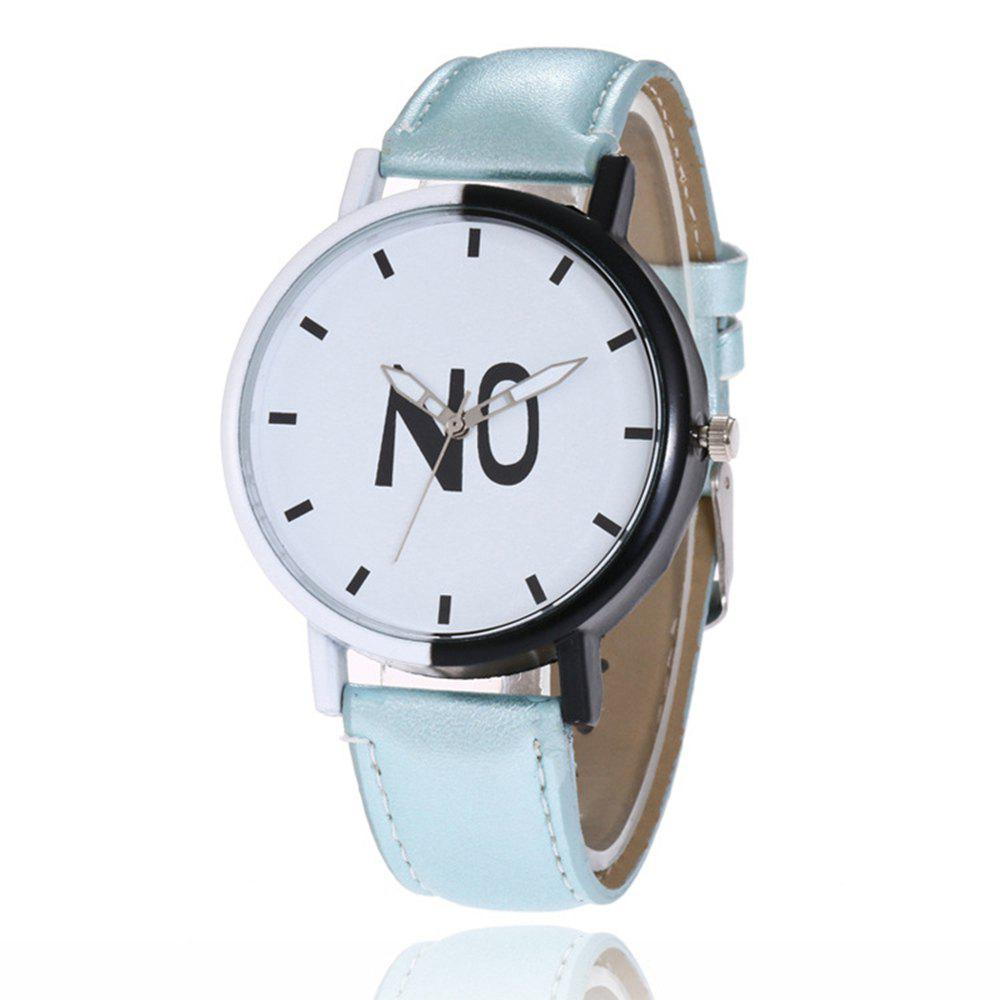 Fashion New Girl Boys Students Leather Watch - PASTEL BLUE