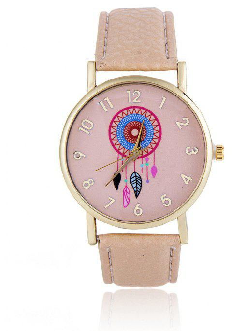 Wind Bell Pattern Cute Girls Quartz Strap Watch - DESERT SAND