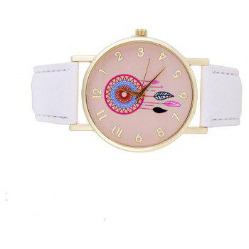Wind Bell Pattern Cute Girls Quartz Strap Watch - WHITE