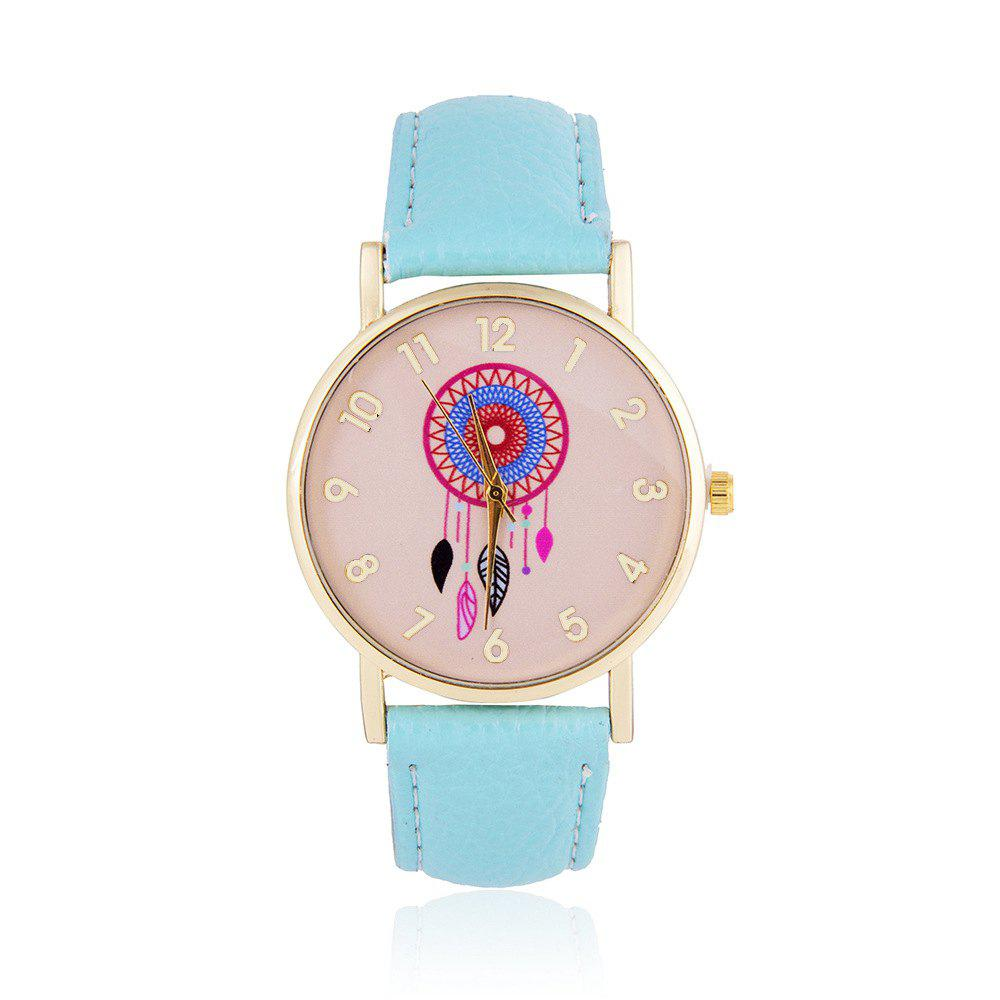 Wind Bell Pattern Cute Girls Quartz Strap Watch - DAY SKY BLUE