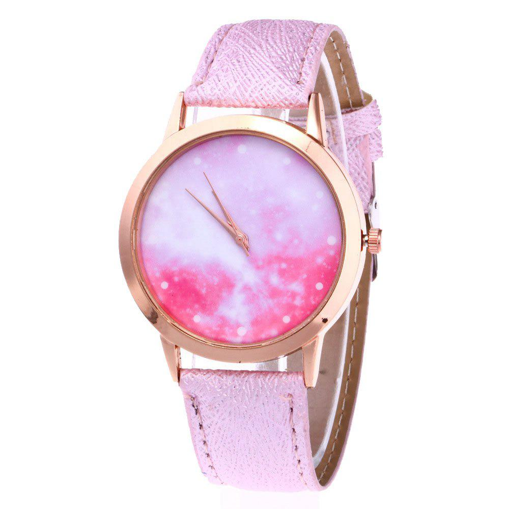 Starry Psychedelic Fresh Student Cute Quartz Watch - CARNATION PINK