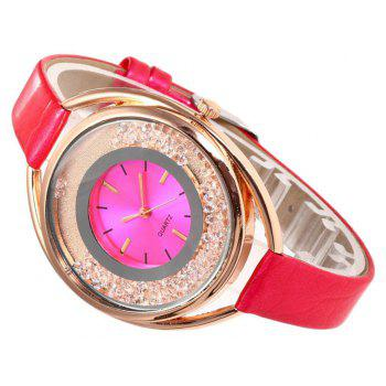 Ladies Fashion Sand Water Diamond British Watches - RED