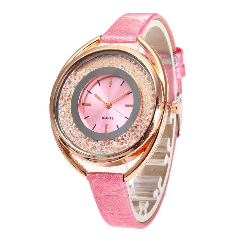 Ladies Fashion Sand Water Diamond British Watches - ROSE