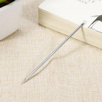Double-headed Black Acne Makeup Slider Beauty Stainless Steel Needle - SILVER