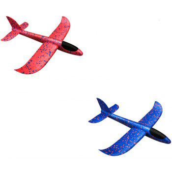 Throwing EPP Foam Airplane Model Outdoor Sports Interesting Toys for Kids - DEEP PINK 37CM