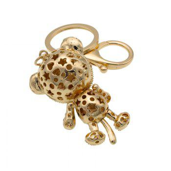 Creative Cartoon Tiger Shape Decoration Rhinestone Key Chain - GOLD