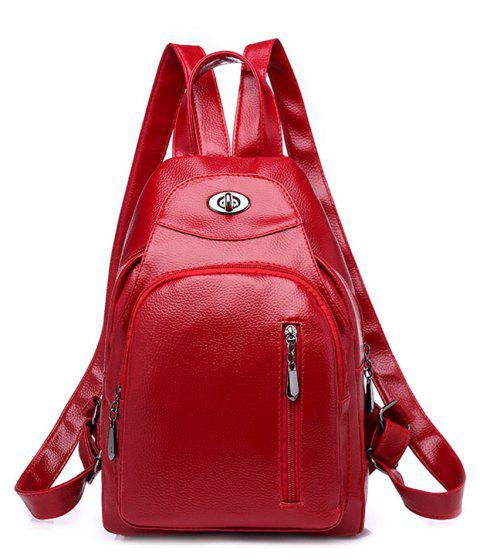 Wild Fashion Simple Small Fresh Female Travel Backpack Tide - LOVE RED