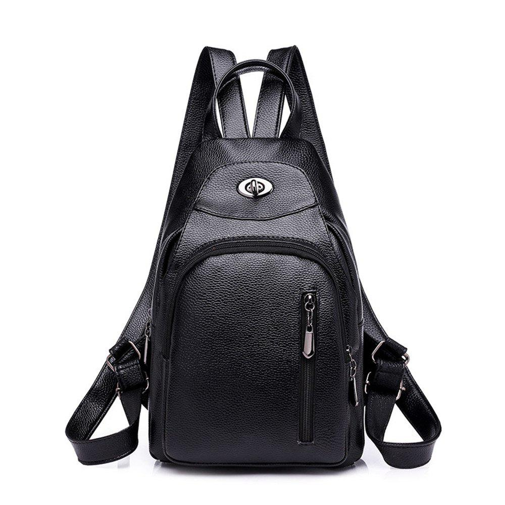 Wild Fashion Simple Small Fresh Female Travel Backpack Tide - BLACK