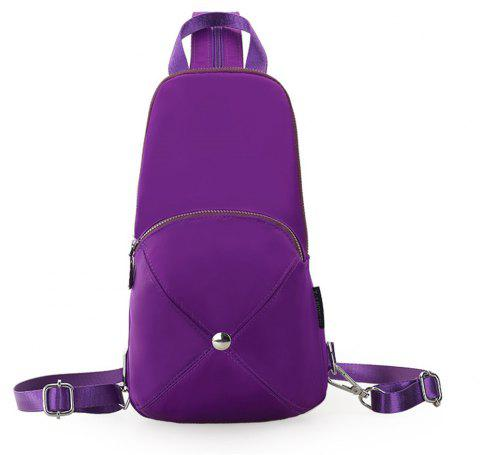 Nylon Mini Fashion Wild Simple Female Small Fresh Travel Backpack - PURPLE SAGE BUSH