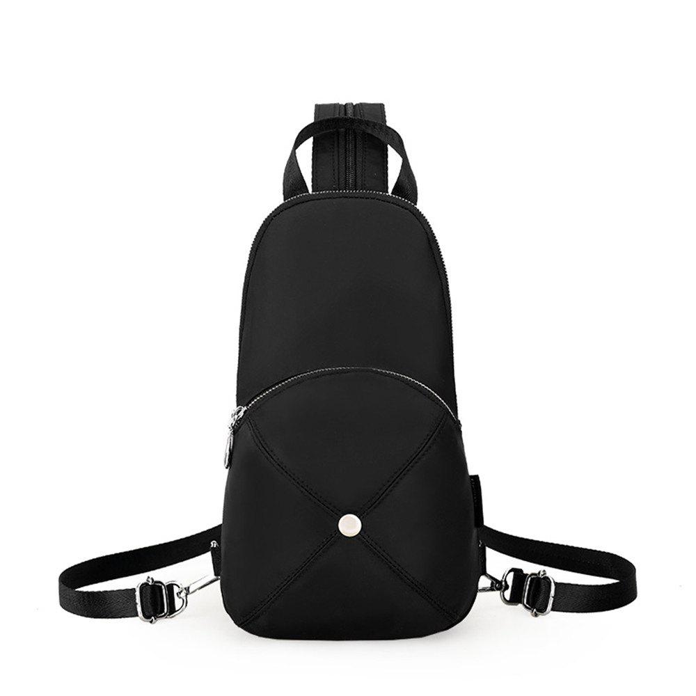 Nylon Mini Fashion Wild Simple Female Small Fresh Travel Backpack - BLACK