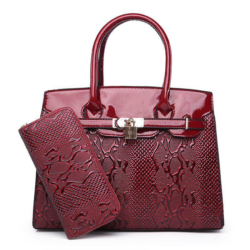 New Fashion Atmosphere Lady's Banquet Bag - RED WINE