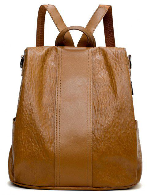 Large Capacity Lady's Backpack - BROWN