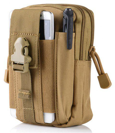 Outdoor Sports Multi-Function Fashion Movement Waist Bag - CAMEL BROWN
