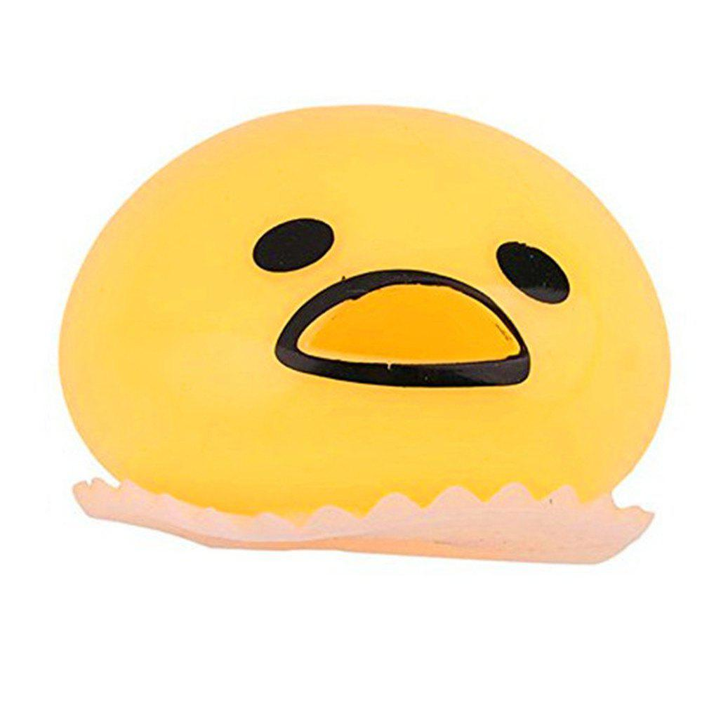 New Pinching Spit Yellow Egg Toy - RUBBER DUCKY YELLOW