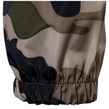 2018 New Spring and Summer Men's Camouflage Hooded Sunscreen Casual Jacket - BLANCHEDALMOND M