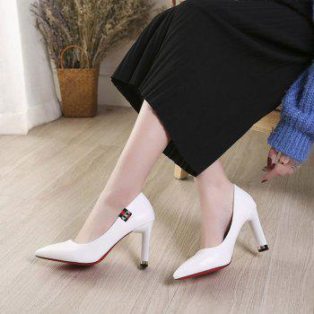 Printemps New Pointed High Heel Velvet Shoes - [