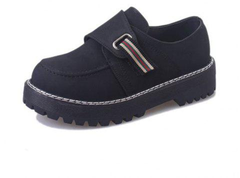 Flat Shoes with Round Head Casual Shoes - BLACK 39